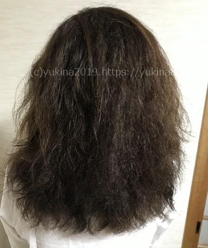 洗い流さないトリートメントをつけたあとの髪の状態